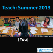Summer 2013 Teacher Application is live!